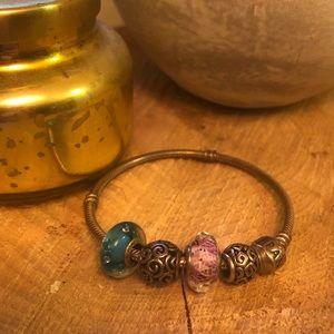 Pandora Bracelet + 4 Charms